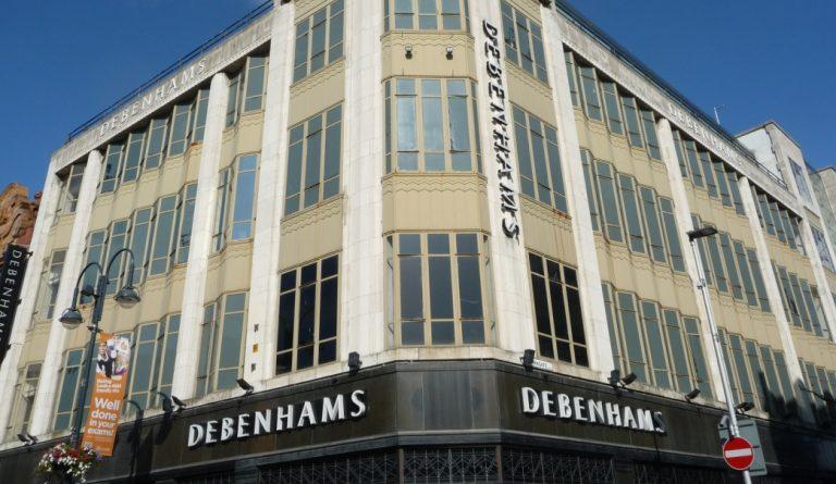 United kingdom based multinational retailer Debenhams names 22 store locations to close